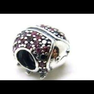 NWOT Pandora sparkling ladybug charm